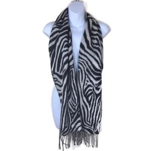 Merona Zebra Print Rectangle Scarf with Fringe Hem